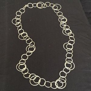 Jewelry - Versatile silver toned ring necklace.